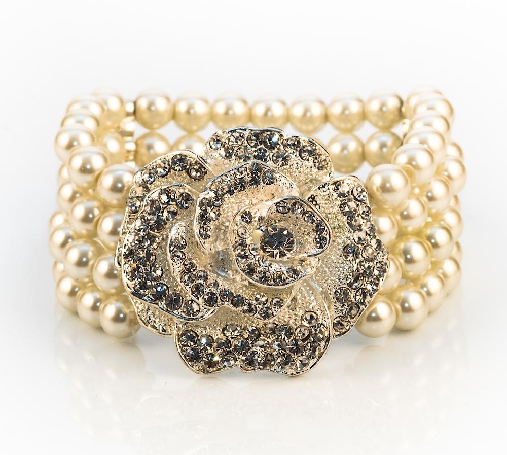 Antique Rose Ivory Bracelet