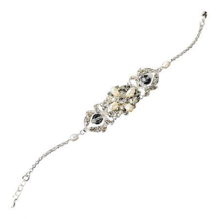 Crystal Ivory Pearl Vintage Bracelet
