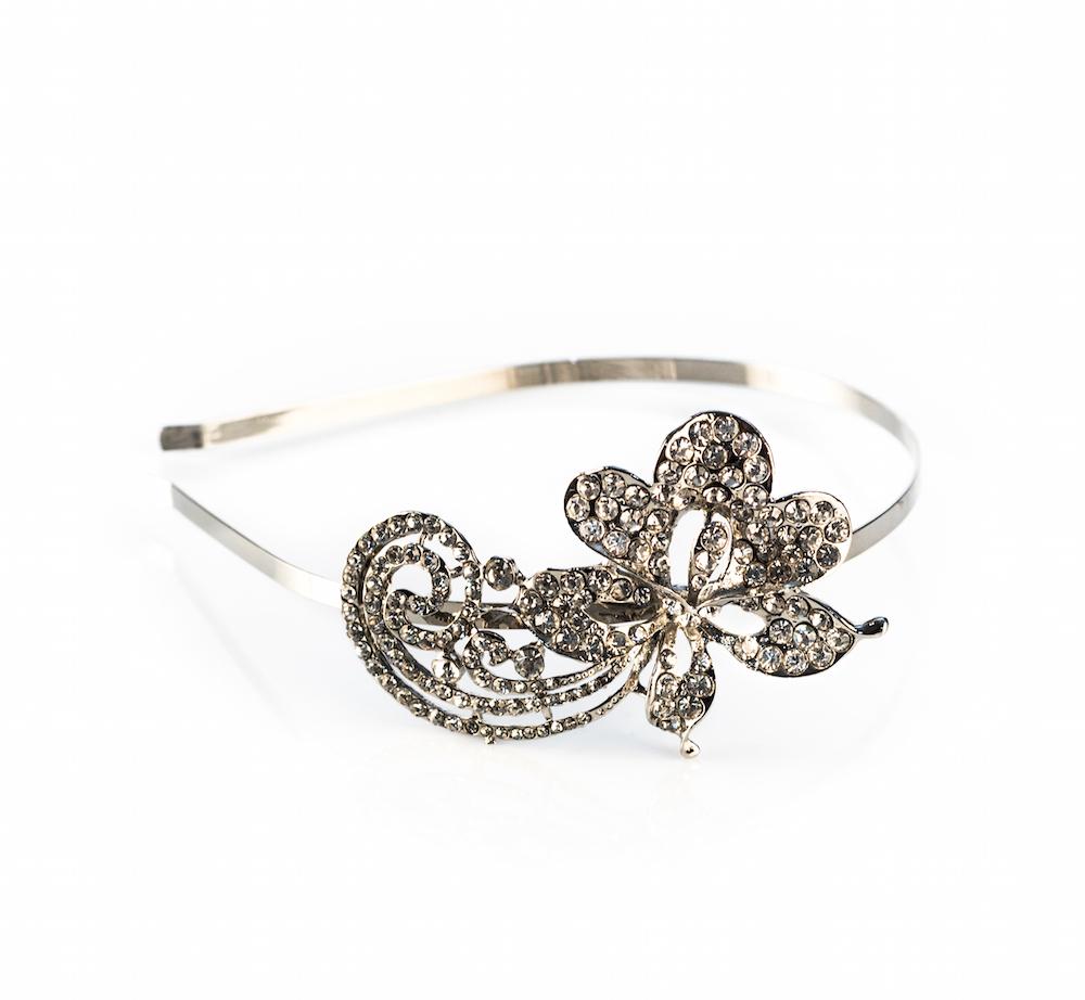 Flower Design Diamante Headband