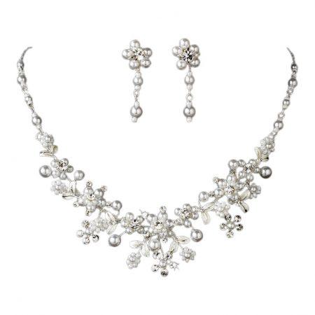 Swarovski Crystal Pearl Necklace Set