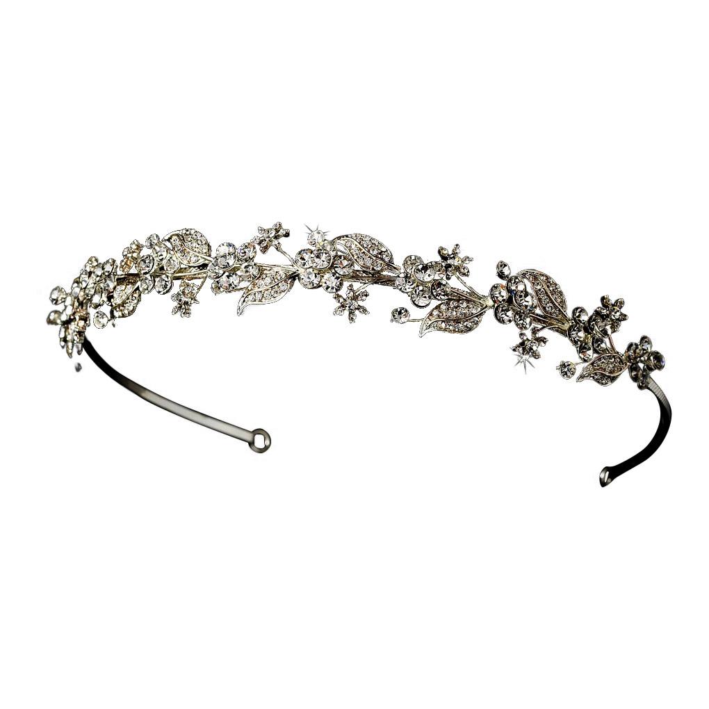 Swarovski Floral Crystal Headband