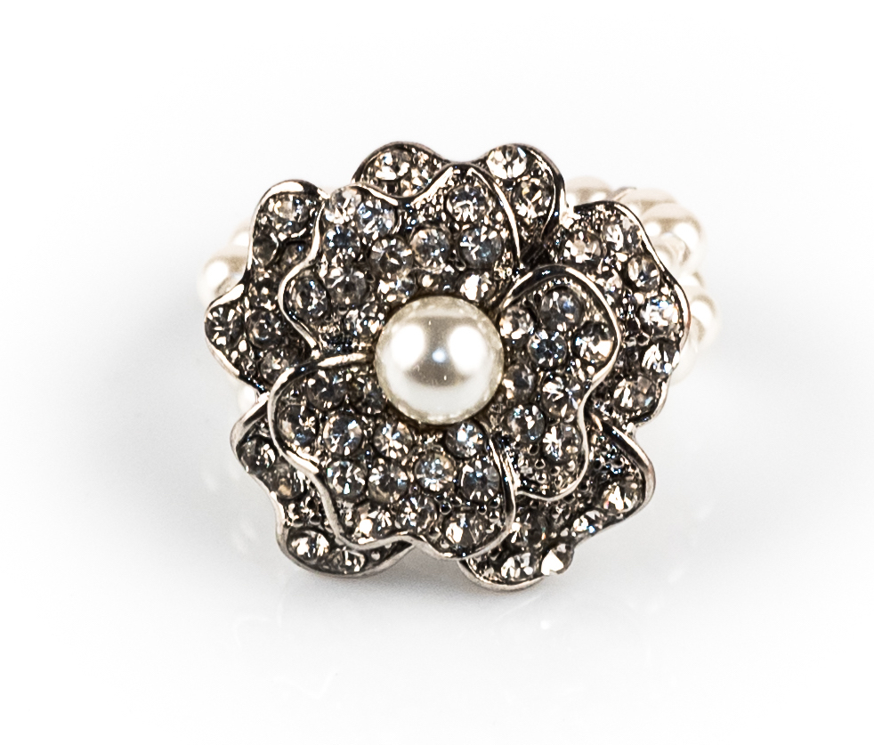 White Pearl Cocktail Ring
