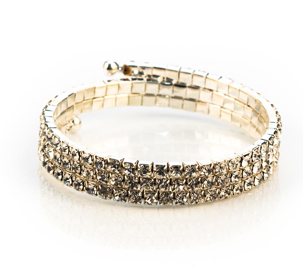 Sparkling Rhinestone Coil Bracelet