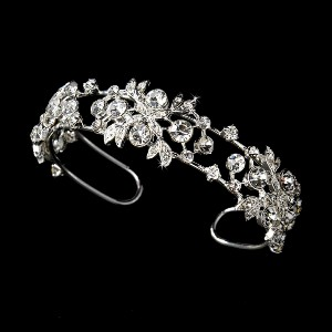 Silver Plated Floral Bangle