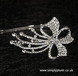 Elegant Bow Design Diamante Headband