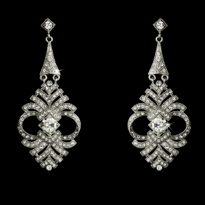 Hollywood Glamour Crystal Earrings