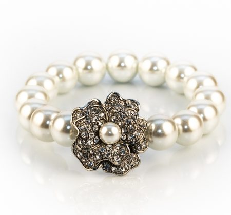 pearl rose bracelet