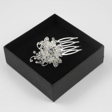 Vintage Inspired Crystal Comb