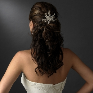 Ivory Pearl Crystal Hair Comb