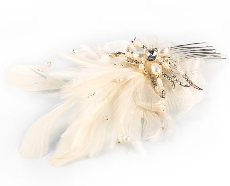 vintage feather fascinator