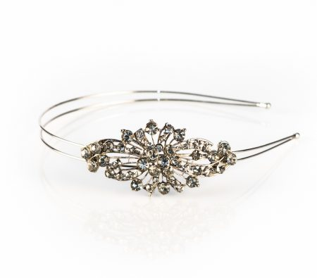 vintage inspired diamante headband