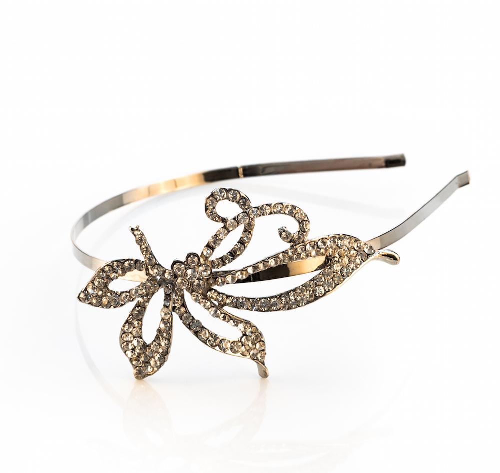 Vintage Design Diamante Headband