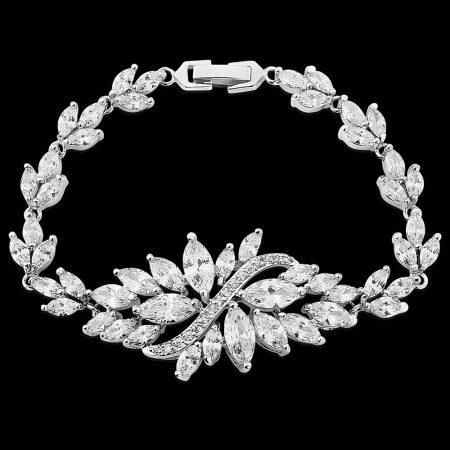 Antique Silver Clear CZ Bracelet