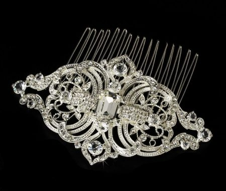 ANTIQUE CRYSTAL HAIR COMB