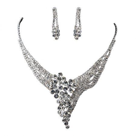 Sparkling Rhinestone Necklace Set