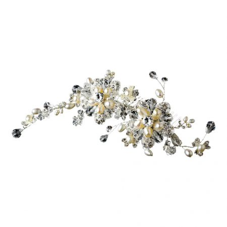Silver Austrian Crystal Bridal Comb
