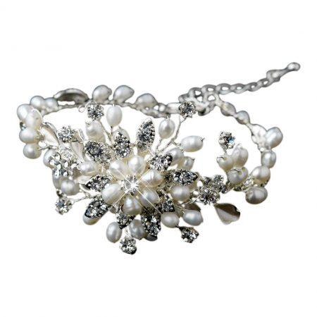 Ivory Freshwater Pearl Bridal Bracelet