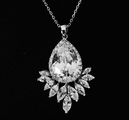 Sparkling Starlet Clear CZ Necklace