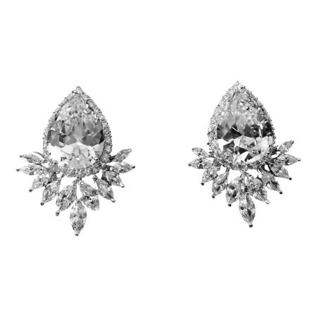 Sparkling Starlet Clear CZ Earrings