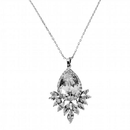 Sparkling Starlet Clear CZ Necklace