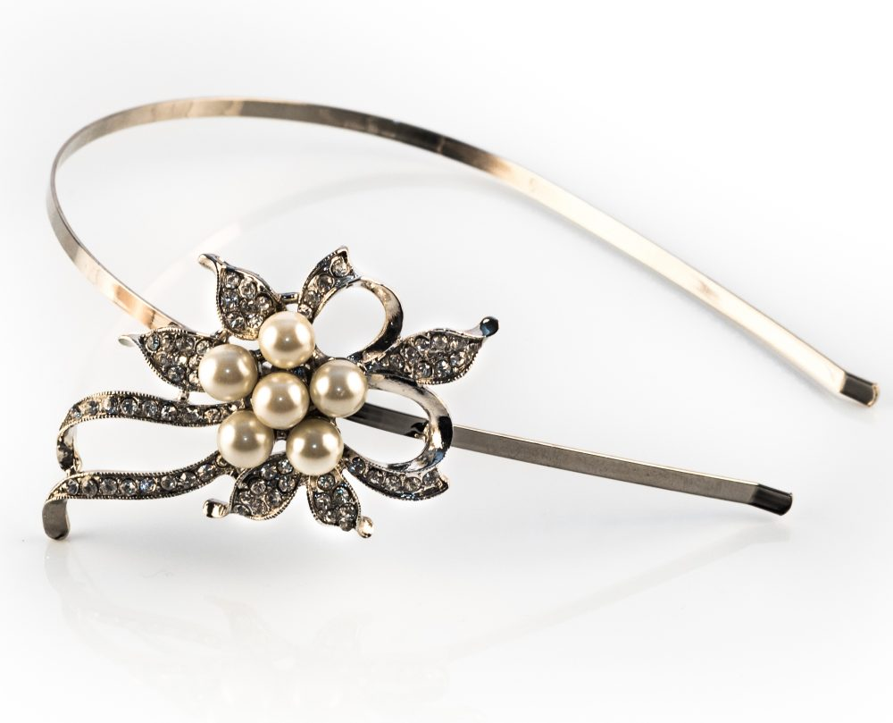 Vintage Inspired Pearl Side Accent Headband