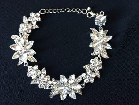 Sparkling CZ Floral Elegance Bracelet