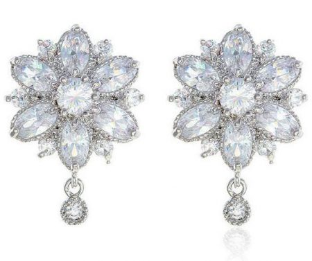 Sparkling Flower Earrings