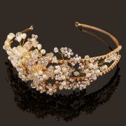 Gold Side Accent Floral Headpiece