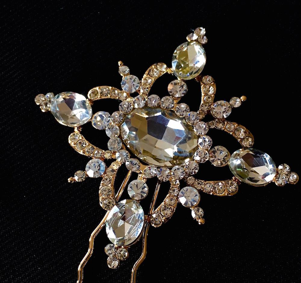 Gold Vintage Elegance Hair Pin