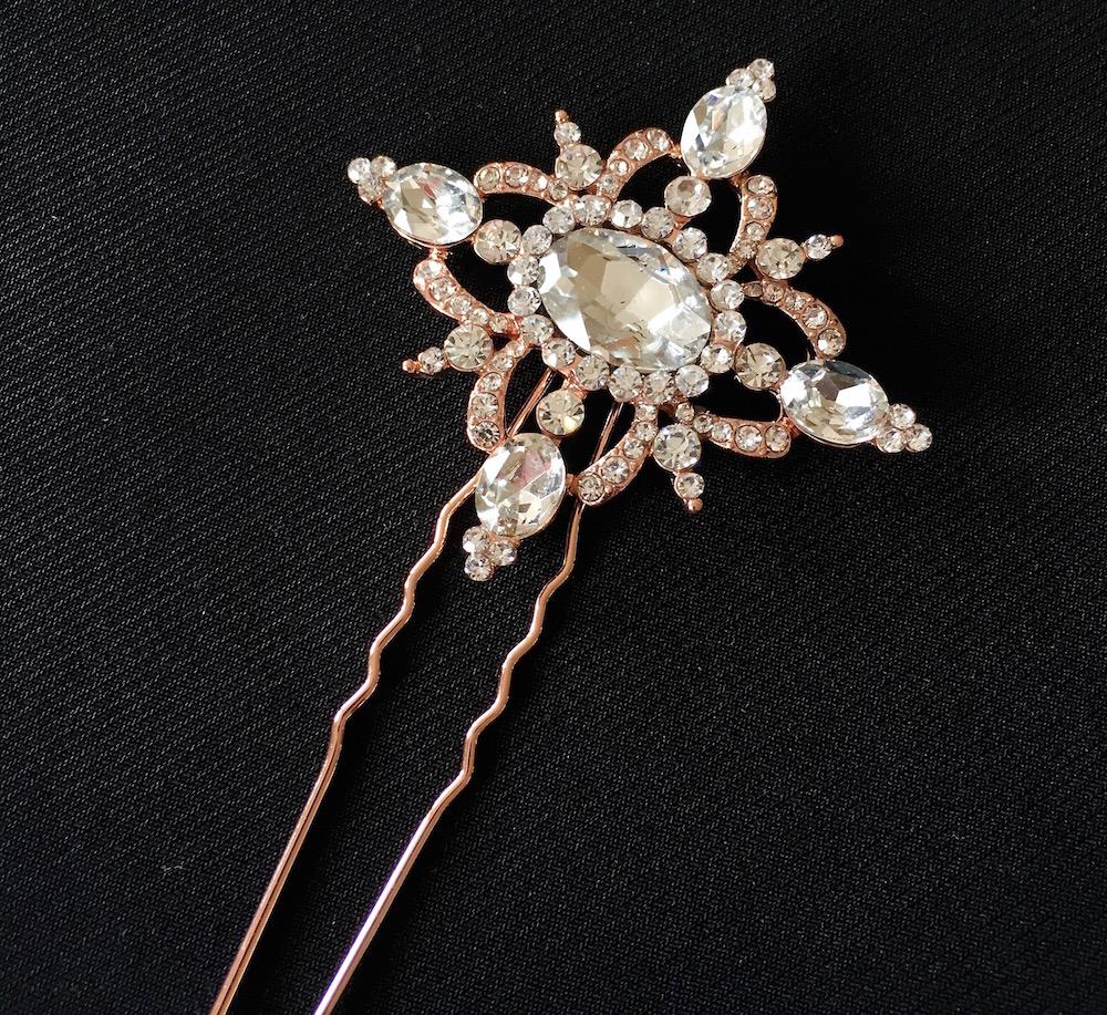 Rose Gold Vintage Elegance Hair Pin