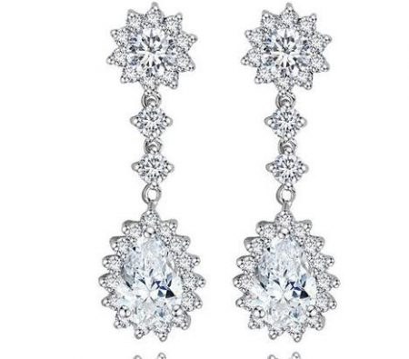 Royal Elegance Cubic Zirconia Earrings