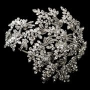 vintage couture side accent bridal face framer headband