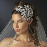 Wholesale vintage couture side accent bridal face framer headband